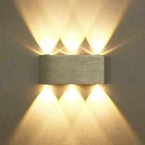 Unimall Applique Murale LED 6W Lampe Murale Avec 6 LEDs éclairage Décoratif Intérieur Lumière Moderne en Aluminium Pour Chambre Escalier Salon Bureau Porche Boutique de la marque Unimall image 0 produit