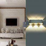 Unimall Applique Murale LED 6W Lampe Murale Avec les 6 LEDs éclairage Décoratif Intérieur Lumière Moderne en Aluminium Pour Chambre Escalier Salon Bureau Porche Boutique (style6) de la marque Unimall image 3 produit