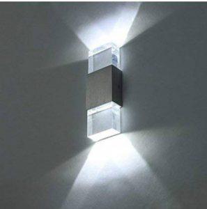 Unimall Applique Murale LED Lampe Murale 6W en Aluminium Lampe Moderne Luminaire Intérieur Extérieur Decorative Pour Chambre Couloir Salon Hôtel Restaurant Cuisine Boutique Salle à Manger Blanc Froid de la marque Unimall image 0 produit