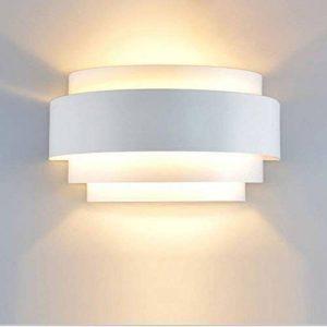 Unimall Appliques Murales LED Design Simple Lampe Murale Applique Interieur Lumière en Métal Pour Chambre Escalier Boutique Salon Bureau Porche Blanc Chaud de la marque Unimall image 0 produit