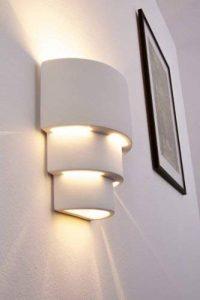 Unimall Appliques Murales LED Lampe Murale Applique Interieur Extérieur Lumière Pour Chambre Escalier Boutique Salon Bureau Porche Blanc Chaud de la marque Unimall image 0 produit