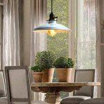 Unimall Suspension Industrielle Antique Style Luminaire Vintage de Lampe de Culot Edison E27 en Métal 60W pour Salon Cuisine Chambre Restaurant Café Repas Boutique Blanc de la marque Unimall image 1 produit