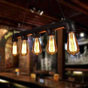 Unimall Suspension Lumianire Industrielle Antique Rétro Style Vintage de Lampe E27 en Métal 60W Pour le Salon la Cuisine la Chambre à coucher le Restaurant le Café le Repas Noir de la marque Unimall image 0 produit