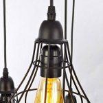 Unitary BRAND Suspension Vintage Design Cage E27 5x40W Noir Peint de la marque UNITARY image 2 produit
