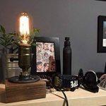[Updated] Rétro Industrielle Edison Lampe de Table en Bois et Métal Culot E27 Lampe de Bureau Chevet Chambre Café Bar Restaurent de la marque AZX image 1 produit