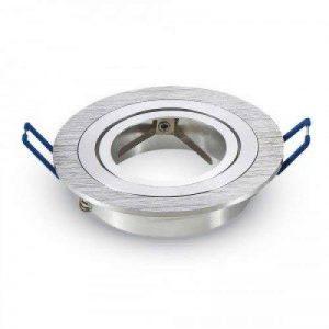 V-TAC SKU.3600 Coupelle Spot Orientable V-TAC GU10 ALUMINIUM BROSSE VT-782, Plastique et Autre Matériaux, Aluminium brosse, Profondeur :25 mm de la marque V-TAC image 0 produit