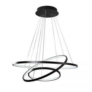Variateur Télécommande LED Moderne Acrylique Suspension Luminaire de Salle à manger Lampe suspendu Luminaires d'intérieur Géométrie Design Plafonnier de Bureau D60cm Noir, variateur (variateur) de la marque Glamour-Eclairage image 0 produit