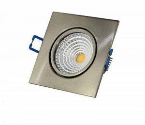 VBLED spot à lED 7 w 230 v 500 lm 3000 k blanc chaud dimmable extra-plat carré en aluminium brossé avec seulement 32 mm de hauteur (deckenleuche plafonnier spot encastrable) de la marque VBLED image 0 produit