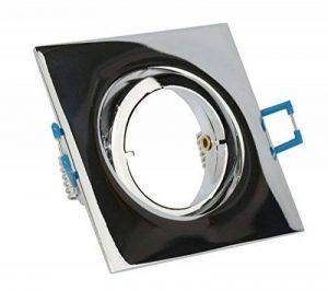 vbled® Spot LED encastrable orientable (sans ampoule) avec fermeture rapide à baïonnette + GU10230V et GU5.312V Moderne eckig chrom glänzend de la marque VBLED image 0 produit