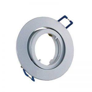 vbled® Spot LED encastrable orientable (sans ampoule) avec fermeture rapide à baïonnette + GU10230V et GU5.312V rund weiß glänzend de la marque VBLED image 0 produit