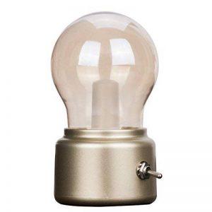 Veesee Vintage Ampoule LED veilleuse USB Chevet Rechargeable lumière de Nuit Sécurité Économie d'énergie Basse Tension Portable Lampe pour Chambre Tableau Thé Voyage (Or) de la marque Veesee image 0 produit