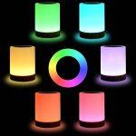 Veilleuse Bébé, Comkes Lampe de Chevet LED Tactile Sensitive Veilleuse de Nuit avec 4 Niveaux de Lumière Blanche Réglable et Changement de 256 Couleurs RGB,2800K-3100K de la marque Comkes image 1 produit