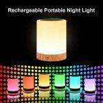 Veilleuse Bébé, Comkes Lampe de Chevet LED Tactile Sensitive Veilleuse de Nuit avec 4 Niveaux de Lumière Blanche Réglable et Changement de 256 Couleurs RGB,2800K-3100K de la marque Comkes image 4 produit