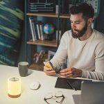 Veilleuse Bébé, Comkes Lampe de Chevet LED Tactile Sensitive Veilleuse de Nuit avec 4 Niveaux de Lumière Blanche Réglable et Changement de 256 Couleurs RGB,2800K-3100K de la marque Comkes image 2 produit