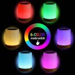Veilleuse Bébé, Lampe de Chevet LED Tactile Sensitive Veilleuse de Nuit avec 4 Niveaux de Lumière Blanche Réglable et Changement de 256 Couleurs RGB,2800K-3100K de la marque Suyoo image 2 produit