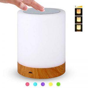 Veilleuse Bébé, Lampe de Chevet LED Tactile Sensitive Veilleuse de Nuit avec 4 Niveaux de Lumière Blanche Réglable et Changement de 256 Couleurs RGB,2800K-3100K de la marque Suyoo image 0 produit