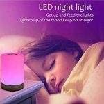 Veilleuse LED,FiDi Tek Lampe avec Contrôle Tactile à 360°, Lampe de Table avec 3 Niveaux de Lumière Blanche Réglable et Changement de 256 Couleurs RGB de la marque FiDi Tek image 4 produit