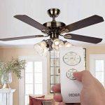 ventilateur de plafond avec lumière et télécommande TOP 6 image 1 produit
