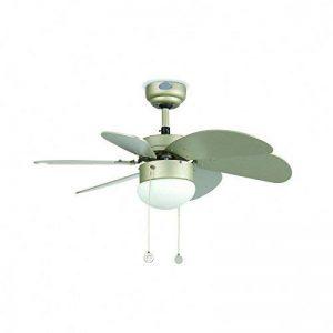 Ventilateur de plafond avec lumière Lorefar PALAO Faro 33186 Gris 6 pales diamètre 76 cm de la marque Faro Barcellona image 0 produit