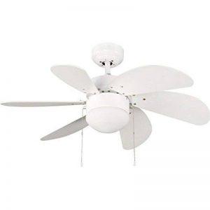 Ventilateur de plafond avec lumière Marea Moderne 76.2 x 76.2 x 41.5 cm blanc de la marque Wonderlamp image 0 produit