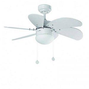 Ventilateur de plafond PALAO, blanc, 6 pales, diamètre 76 cm de la marque France Luminaires image 0 produit
