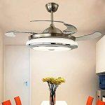 Ventilateur de plafond silencieux avec 4 lames, araignée LED avec trois couleurs d'intensité, verre métallique, télécommande (42 pouces, 107 cm) [classe d'efficacité énergétique A +++] de la marque XINLEE image 4 produit