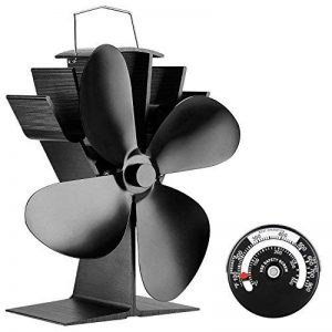 Ventilateur pour poele -- Sonyabecca 4 pales silencieux alimenté par la chaleur, pour poêles à bois et cheminées. Écologique. [Classe énergétique A+++] de la marque Sonyabecca image 0 produit