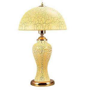 Verre Lampe de Table Salon Chambre Chevet Romantique Rétro Décoration Lampe de Table Lampes et éclairage (Couleur : Le Jaune) de la marque Lampes de table H image 0 produit