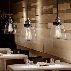 Verre Vintage industrielle Retro cordon de montage Ceiling Pendant Lampe Edison de la marque Beisaqi image 0 produit