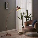 Versanora Arco lampadaire métal arc lampe de sol sur pied abat-jour rose doré de la marque Versanora image 1 produit