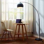 Versanora Arquer lampadaire arc lampe de sol abat-jour noir pied marbre noir de la marque Versanora image 1 produit
