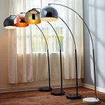 Versanora Arquer lampadaire arc lampe de sol abat-jour noir pied marbre noir de la marque Versanora image 2 produit