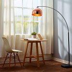 Versanora Arquer lampadaire arc lampe de sol abatjour rose doré pied marbre noir de la marque Versanora image 2 produit