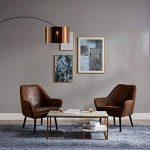 Versanora Curvella lampadaire en arc lampe sur pied lampe de sol dorée noir de la marque Versanora image 1 produit