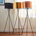 Versanora VN-L00001-EU Cara lampadaire trépied Sol Lampe sur Pied Abat-Jour doré, Fer/Plastique, 50 W, Jaune/Noir, 19.68 x 22.83 x 62.2 de la marque Versanora image 3 produit