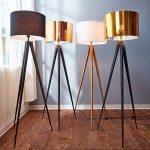 Versanora VN-L00004-EU Romanza lampadaire trépied Sol Lampe sur Pied Abat-Jour doré, Fer/Plastique, 50 W, Jaune/Noir, 19.68 x 19.68 x 60.23 de la marque Versanora image 3 produit