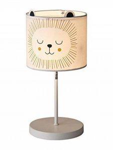 Vertbaudet Lampe de chevet de nuit Lion Beige clair lisse avec ornement Unica de la marque VERTBAUDET image 0 produit