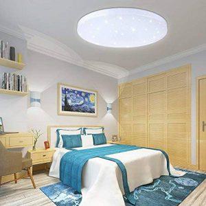 VGO® 16W Plafonniers LED Lampe Plafond Ronde Lumière des étoiles Effet Beau Salon Lampe à Variable Couleur Changeantee [Classe énergétique A ++] de la marque huigou image 0 produit