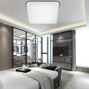 VGO® 50W LED Plafonnier Carré Lumière des étoiles Moderne Blanc Froid Plafonnier Salle de Bains Efficacité énergétique A++ de la marque huigou image 0 produit