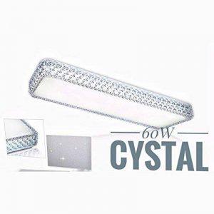 VGO® 60W LED Cristal Lumière des étoiles Effet Plafonnier Variable Couleur Changeantee Carré Lampe Murale 711 * 380 * 108mm Salon Plafond Éclairage [Classe Énergétique A ++] de la marque huigou image 0 produit