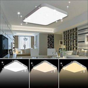 VGO 60W LED Plafonnier Dimmable Infiniment Gradable Salon Lampe de Cuisine Lumière des étoiles Effet Plafond éclairage Panneau Lustre Chambre Salle à Manger économie d'énergie de la marque huigou image 0 produit