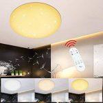 VGO 60W LED plafonnier dimmable salon lampe moderne salon plafond éclairage salle de bains adapté IP44 chambre Éclairage continu économique de la marque huigou image 3 produit