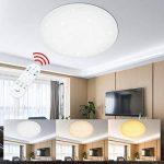 VGO 60W LED plafonnier dimmable salon lampe moderne salon plafond éclairage salle de bains adapté IP44 chambre Éclairage continu économique de la marque huigou image 2 produit