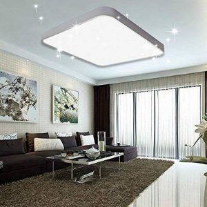 VGO 60W LED Plafonnier Froid Blanc Salon Lampe Cuisine Lumière Ciel étoilé Plafond éclairage Panneau Lustre Ultraslim Chambre Salle à Manger économie d'énergie de la marque huigou image 0 produit