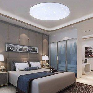 VGO 60W LED Plafonnier Lampe de Salon Froid Blanc Ronde Applique Plafond Éclairage Moderne Étoiles Sky Starry Sky IP44 Adapté à la Salle de séjour Éclairage Continu économique de la marque huigou image 0 produit