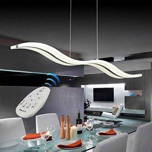 VI de xixi Suspension LED DIMM Lustre moderne plafonniers Bar réglable en hauteur Télécommande pour salle à manger salon, forme d'onde, 3couleurs Cool White + White + neutre chaud White de la marque Vi-xixi image 0 produit