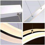 VI de xixi Suspension LED DIMM Lustre moderne plafonniers Bar réglable en hauteur Télécommande pour salle à manger salon, forme d'onde, 3couleurs Cool White + White + neutre chaud White de la marque Vi-xixi image 3 produit