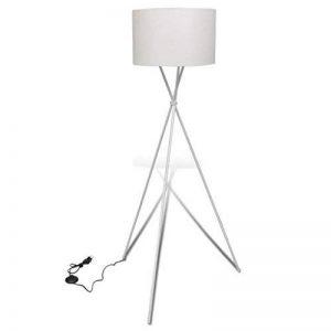 vidaXL Lampe de sol à long trépied Lampadaire Lampe sur pied Lampe de séjour Blanc de la marque vidaXL image 0 produit