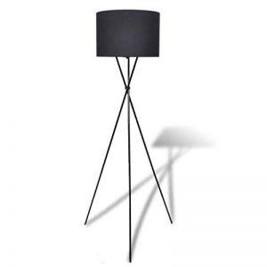 vidaXL Lampe de sol à long trépied Lampadaire Lampe sur pied Lampe de séjour Noir de la marque vidaXL image 0 produit