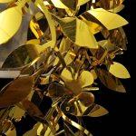 vidaXL Lustre Paillettes Feuilles 21,5 x 30 cm Doré Lustres de la marque vidaXL image 3 produit